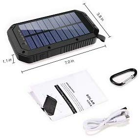 25000mAh Battery Solar Power Bank Portable Panel Charger