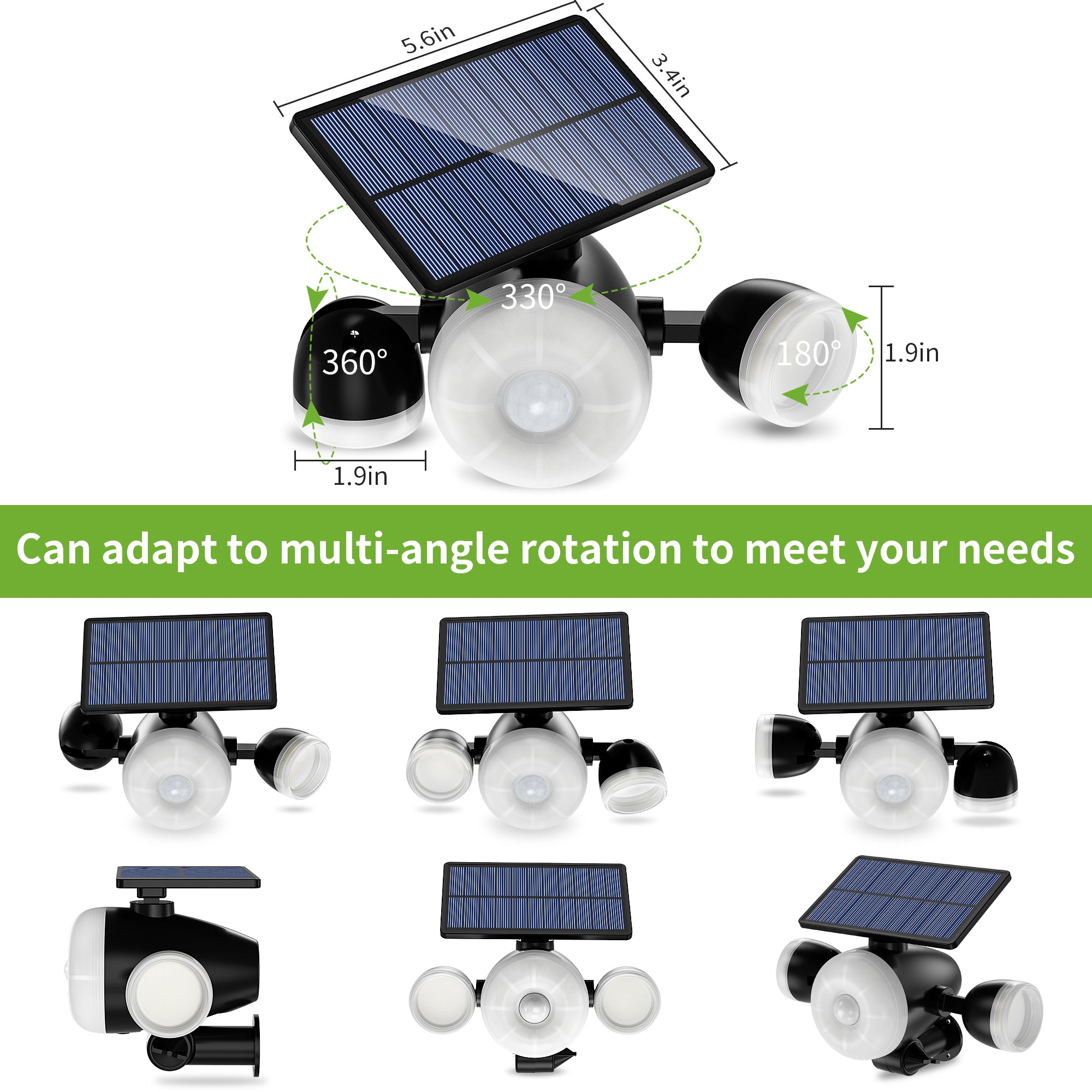 Solar Lights Outdoor, 88 LED Solar Security Lights with Motion Sensor