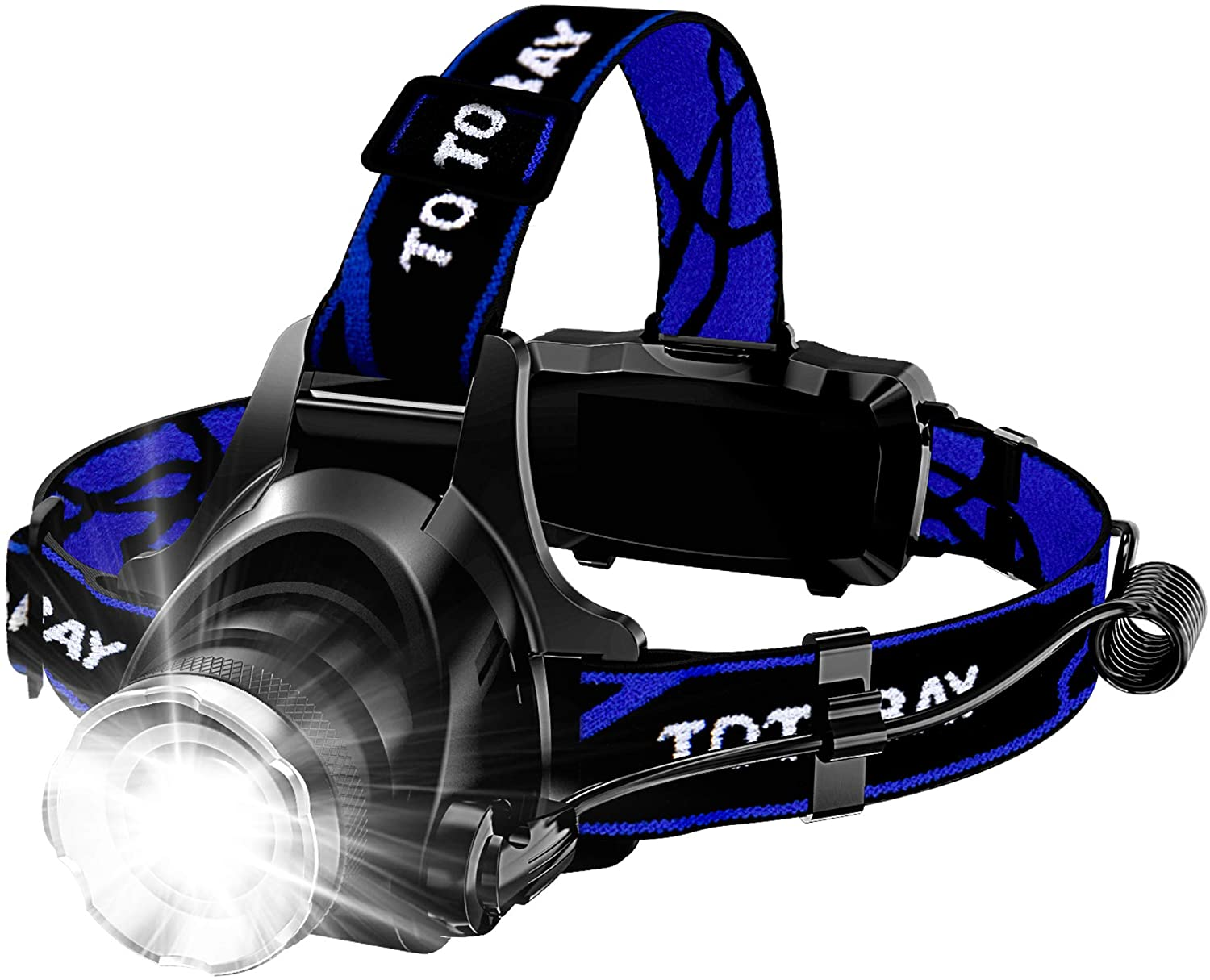 Totobay--Zoomable 3 Modes Super Bright LED Headlamp