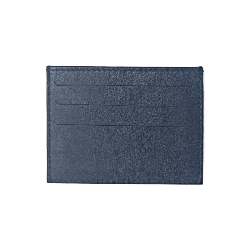 Black Leather Card Holder with three card slots