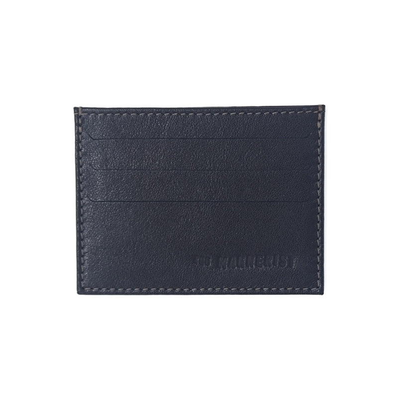 Designer Black Leather Card Holder with three card slots