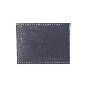 Designer Dark Brown Leather Card Holder with three credit card slots on each side