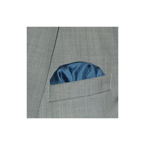 Designer Dark Blue with Yellow Border Silk Pocket Square