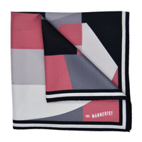 'The Large Glass' Pane Silk Pocket Square