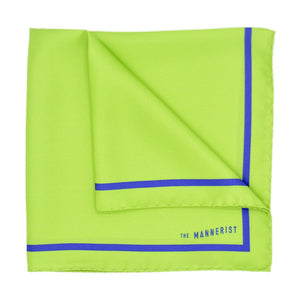 Lime Green Silk Pocket Square