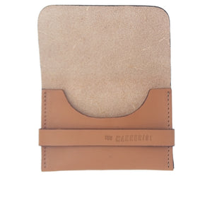 Tan Leather Card Holder with Strap. Perfect for travel