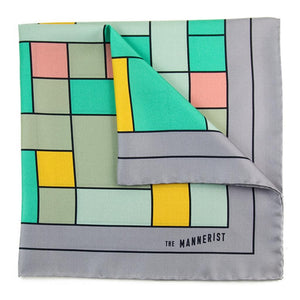 'The Maze' Print Silk Pocket Square