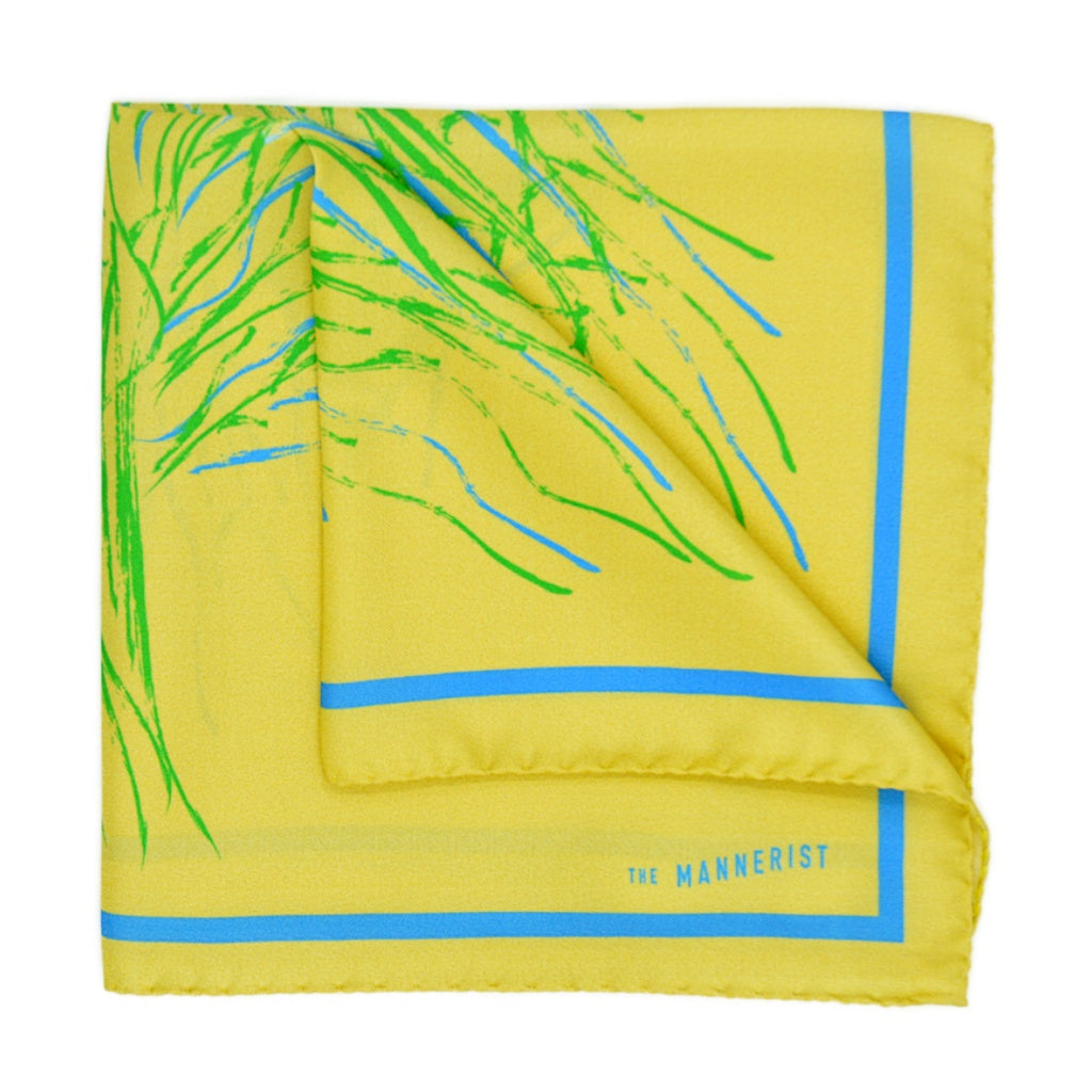 'The Green Tree' Silk Pocket Square