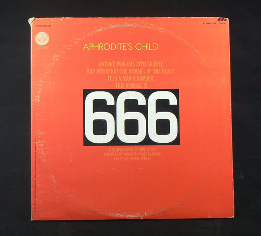 Aphrodite's Child - 666 Double LP, VG+ 1st Press Verigo