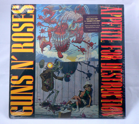 Guns N' Roses - Appetite For Destruction LP, Sealed 1st Pressing, Uncensored Cover