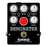 OKKO Dominator Mk II High Gain Distortion Pedal, Black