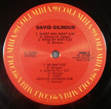 David Gilmour - David Gilmour LP, 1978 1st Pressing