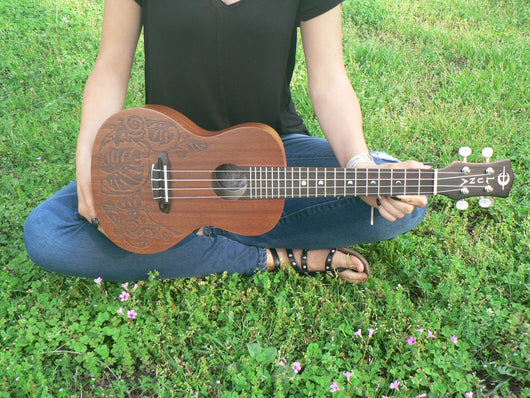 Luna Lizard Concert Mahogany Ukulele, Model MO MAH (Available for in store purchase only)