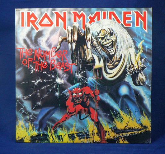Iron Maiden ‎– The Number Of The Beast LP, 1st Pressing, EXC