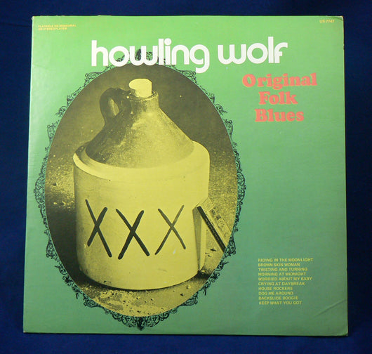 Howling Wolf ‎– Original Folk Blues LP, 1969 Reissue, Mono, VG+