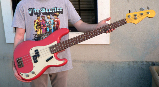 Pre-Owned 2016 Nash PB-63 Fiesta Red Bass With Original Case
