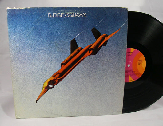 Budgie - Squawk LP, 1973 Prog Rock,  Promo, VG+ First US Press!