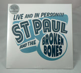 St Paul And The Broken Bones - Live And In Person!!! LP, Sealed, Blue and White Marbled Vinyl