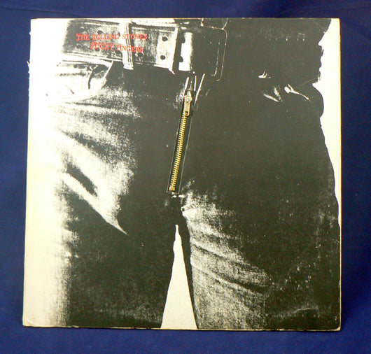 Rolling Stones - Sticky Fingers LP, Warhol Zipper Cover, VG Vinyl