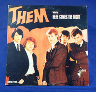 Them - Here Comes The Night LP, First Press Mono, VG
