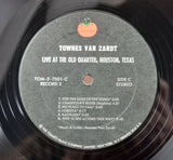 Townes Van Zandt - Live At The Old Quarter, Houston, Texas Double LP, 1st Press, EXC