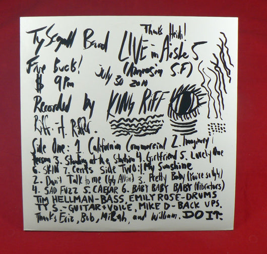 Ty Segall Band - Live In Aisle 5 LP, Repress, EXC Vinyl