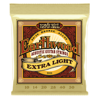 Ernie Ball Earthwood 80/20 Bronze Acoustic Strings, Extra Light Gauge 10s