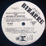 Frank Zappa And The Mothers Of Invention ‎– Weasels Ripped My Flesh LP, Promo