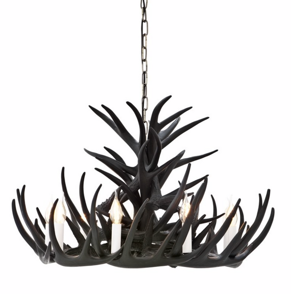 ANTLER CHANDELIER - BLACK
