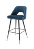 BAR STOOL AVORIO - BLUE VELVET