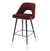 BAR STOOL AVORIO - RED VELVET