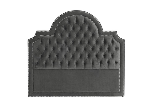 GRANITE GREY VELVET HEADBOARD