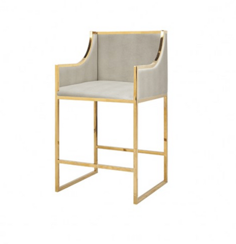 HAZEL BAR STOOL -SHAGREEN