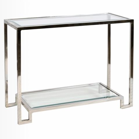 LYLE NICKEL CONSOLE TABLE