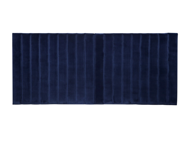 NAVY PANELLED  HEADBOARD