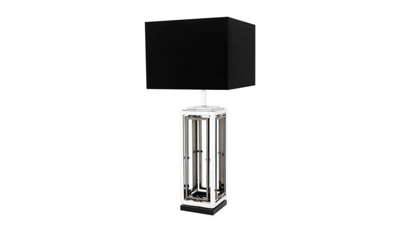 BLACKROCK TABLE LAMP - NICKEL