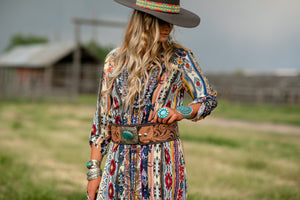 The Ranchers Wife: Tooled Leather Belt