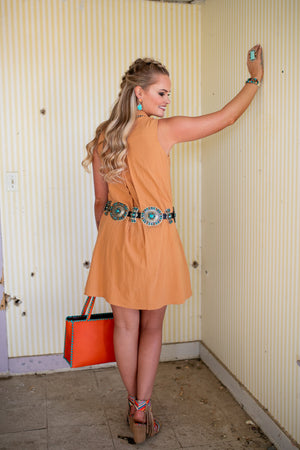The Terra Cotta: Button Up Dress