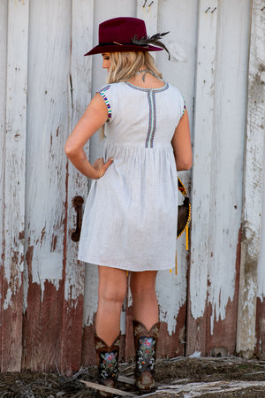 The Lofland: Chambray Swing Dress