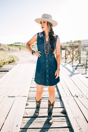 The Rosalee: Denim Dress