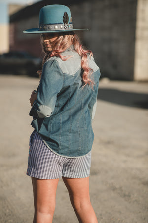 The Tasha: Denim Button Up
