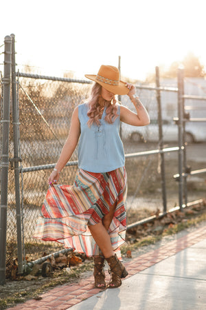 The Bethany: Denim Tank