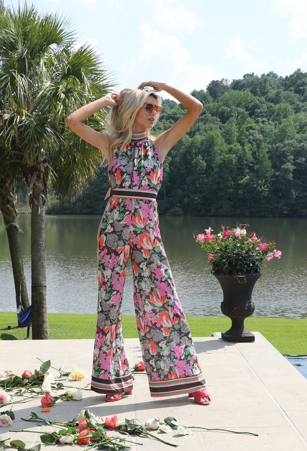 Walking After Midnight: Floral Jumpsuit