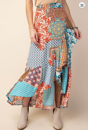 Achy Breaky Heart: Patchwork Skirt