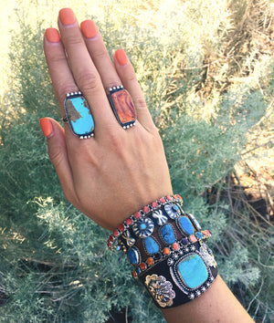 Hippies & Cowboys: Leather + Turquoise Bracelet