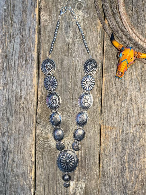 Dime Store Cowgirl: Concho Necklace