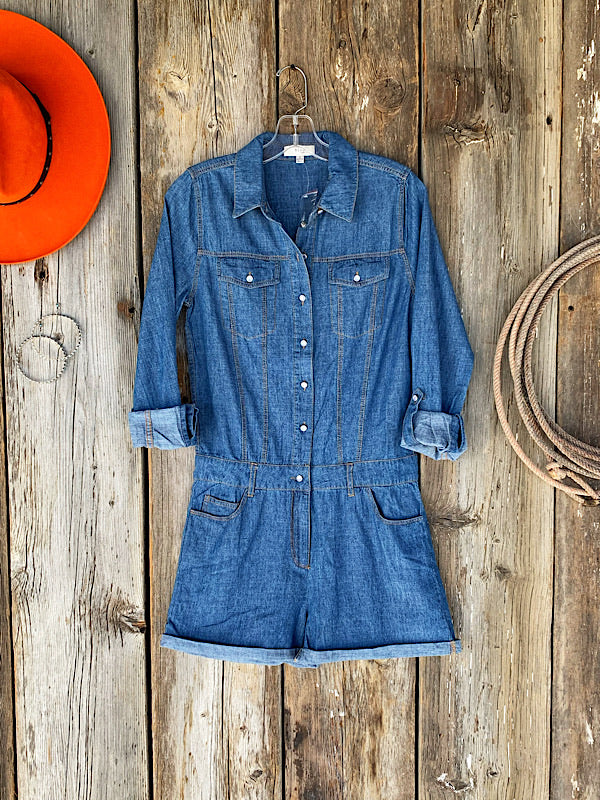 Hot Shot: Denim Romper