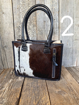 The Waitsburg: Tooled/Cowhide Purse