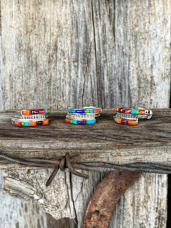 Blaze: Multi Colored Inlay Bands