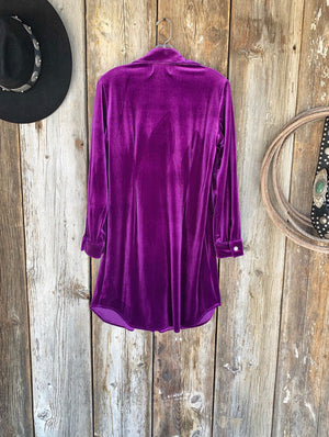 The After Party: Purple Velvet Dress